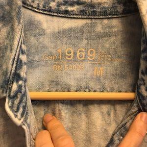 GAP Tops - GAP 1969 Acid Wash Button Down Shirt